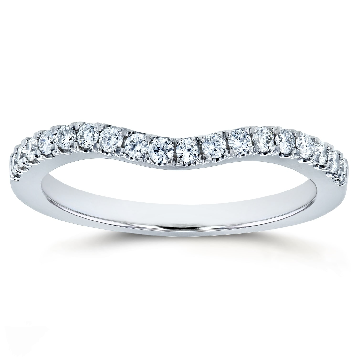 Annello by Kobelli Diamond Curved Wedding Band Size 1/5