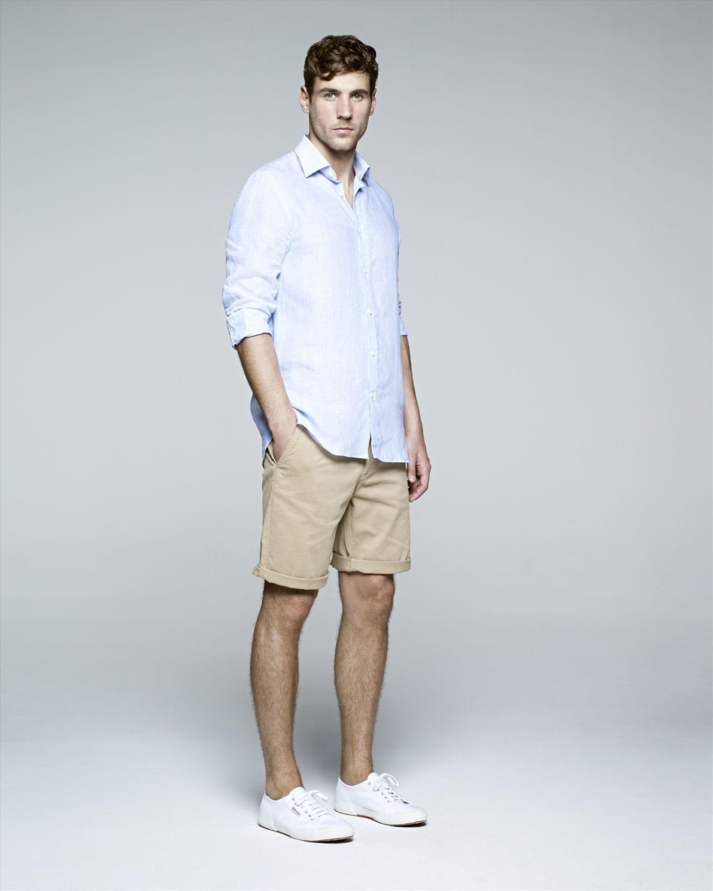 jaeger beige chino shorts