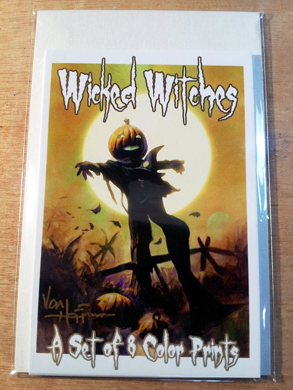 8 WICKED WITCH PRINTS by Mike Von Hoffman by monstersmailbox