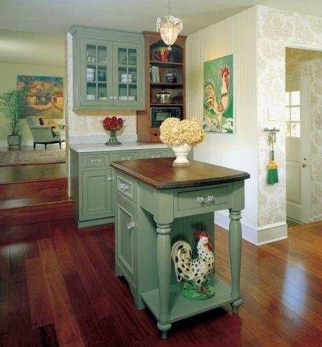 Vintage Country Kitchen Green vintage green english country kitchencandacegreens, yellows