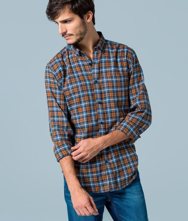 Free Shipping For Sale Cheap Largest Supplier Mens Camisa De Cuadros Casual Shirt Springfield H8Al5