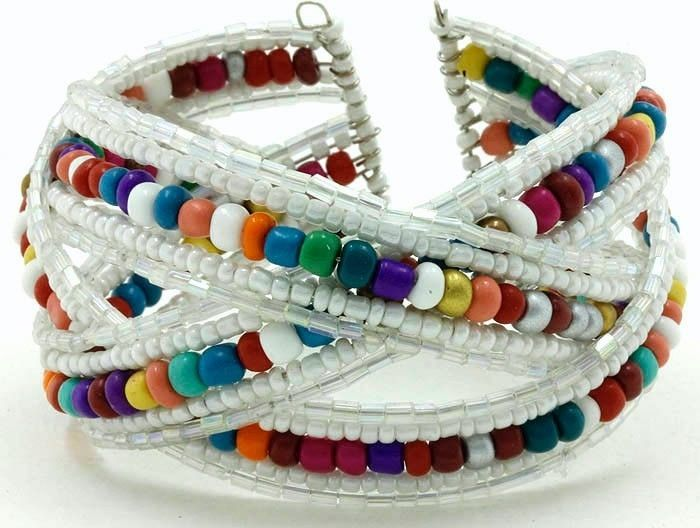 .       566493039_tp     BUY ONE GET ONE FREE Seed Bead cuff summer surfer fashion bracelet