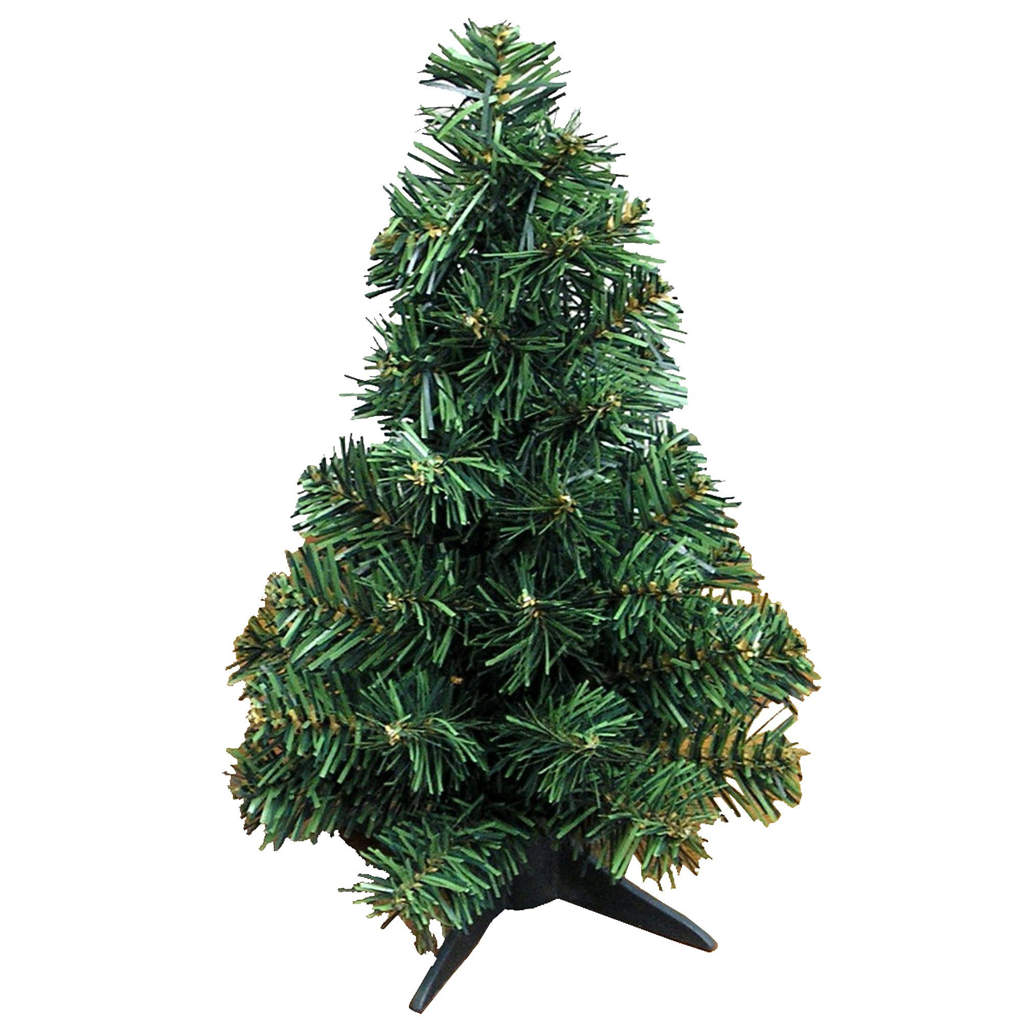 1 Green Pine Tree Artificial Canadian Christmas With Plastic Stand