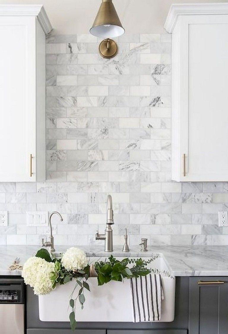 7 Interesting Bathroom Backsplash Ideas Design Ideas To Inspire You White Marble Kitchen Kitchen Renovation Home Kitchens