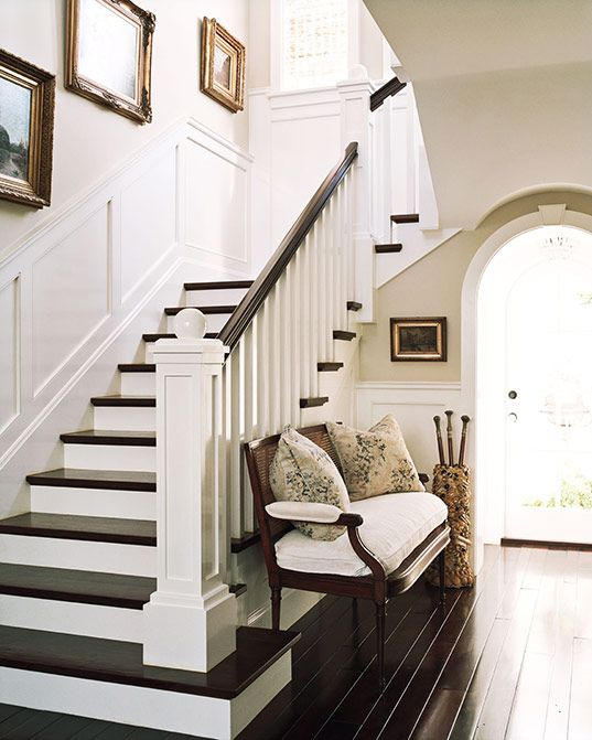 20 Attractive Painted Stairs Ideas: Possibility For My Stairs Without The Banister