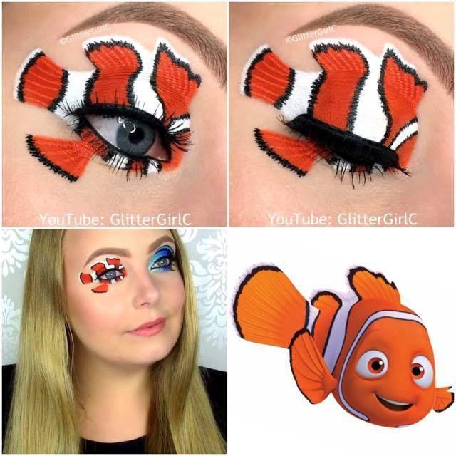 Nemo makeup look | Costume Eye Makeup | Pinterest | Makeup ...