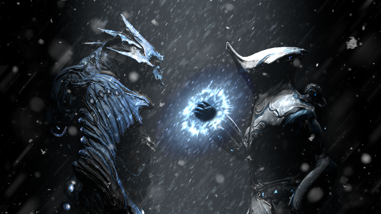 Cryos by LocoCrazyy | #Warframe Frost and Chroma Wallpaper