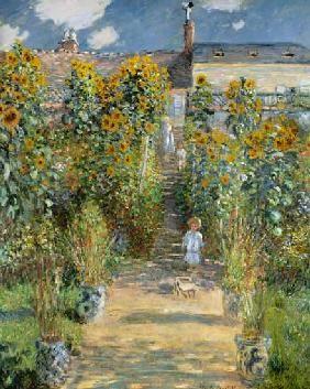Monet Madame .. - C Poster // Leinwandbild // Glasbild Frau mit Sonnenschirm