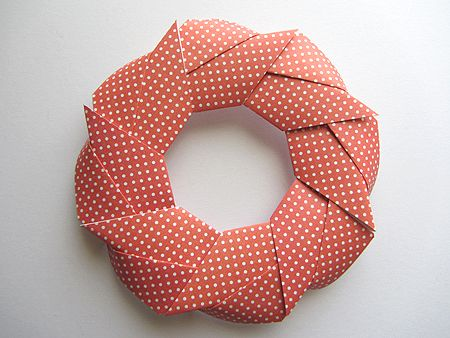 Origami Instructions Modular Holiday Wreath Craft Christmas