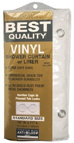 Details About Ex Cell 70 X 72 White Hd Vinyl Shower Curtain