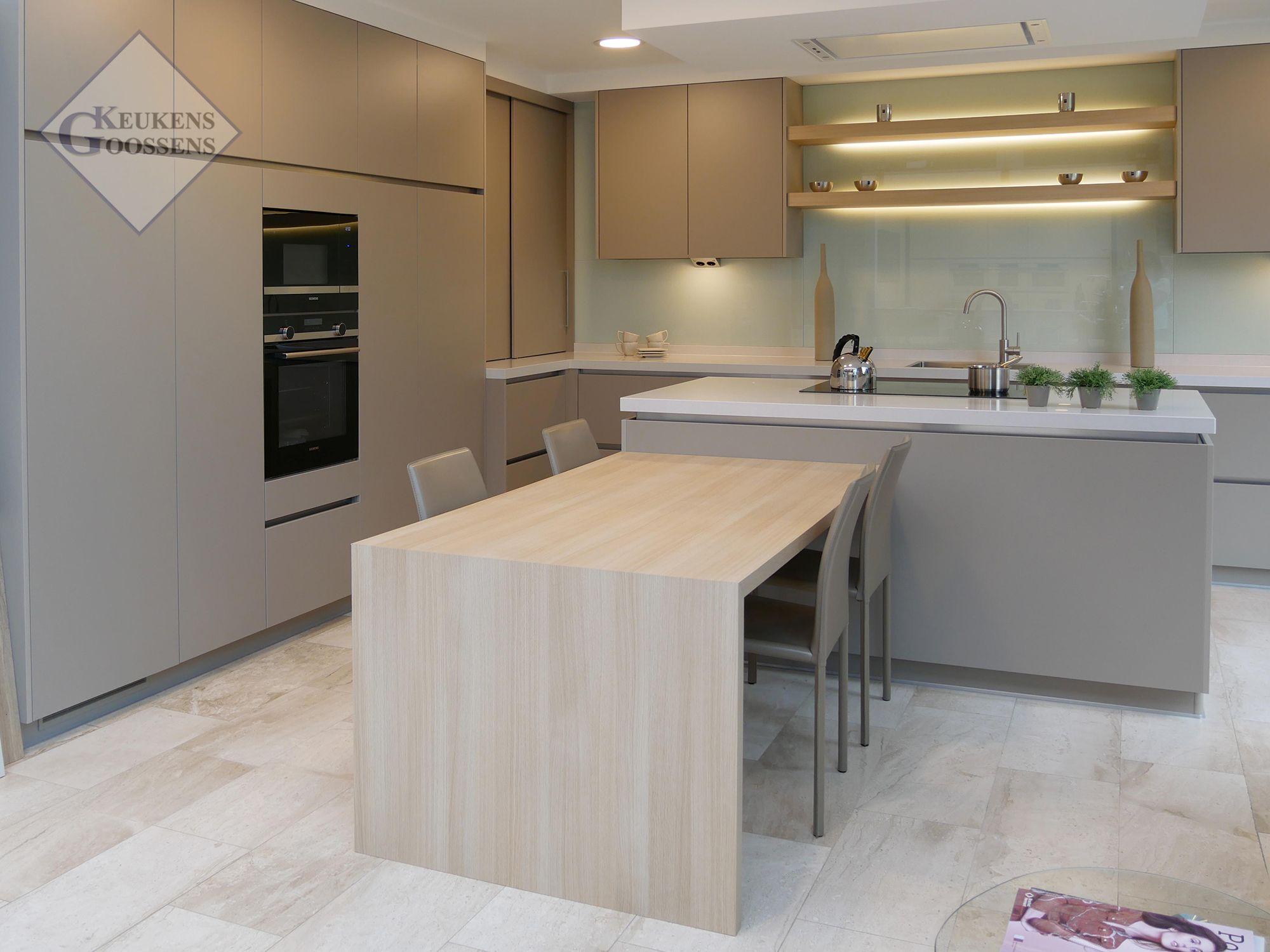 Goossens Keukens Moderne Keuken Toonzaal Turtle Grey Pelt Moderne Keukens Moderne Keuken Keuken