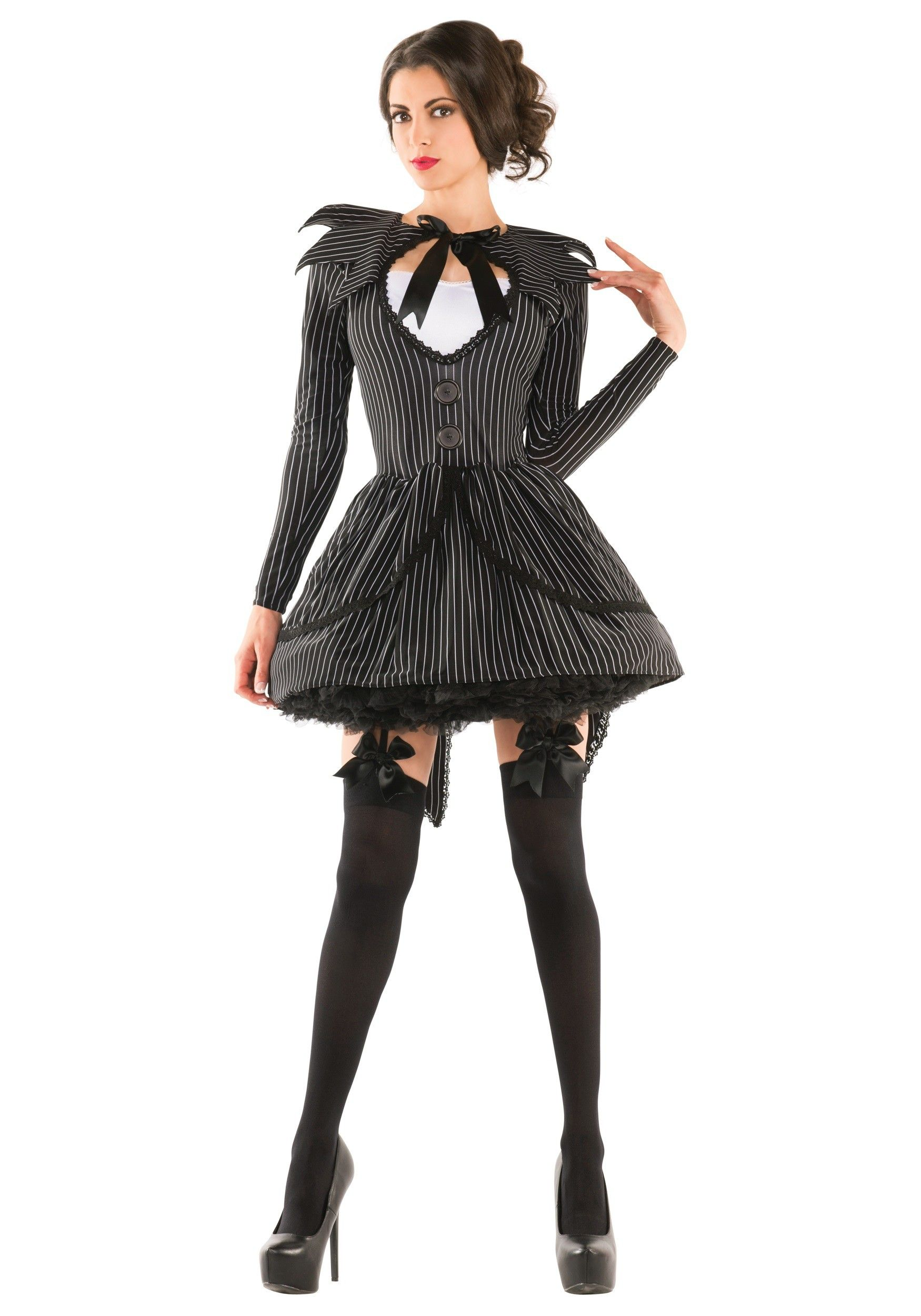 Bad Dreams Babe Adult Costume Genderbend Jack Skeleington ...