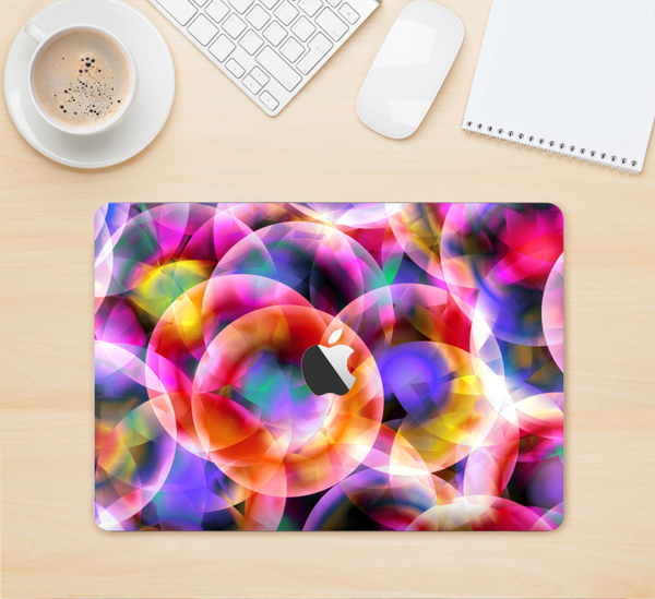 """The Neon Glowing Vibrant Cells Skin Kit for the 12"""" Apple MacBook"""