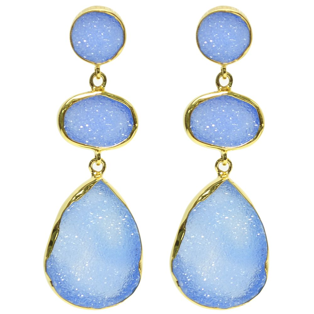 blue druzy drop earring | Infinite Jewellery | Pinterest ...