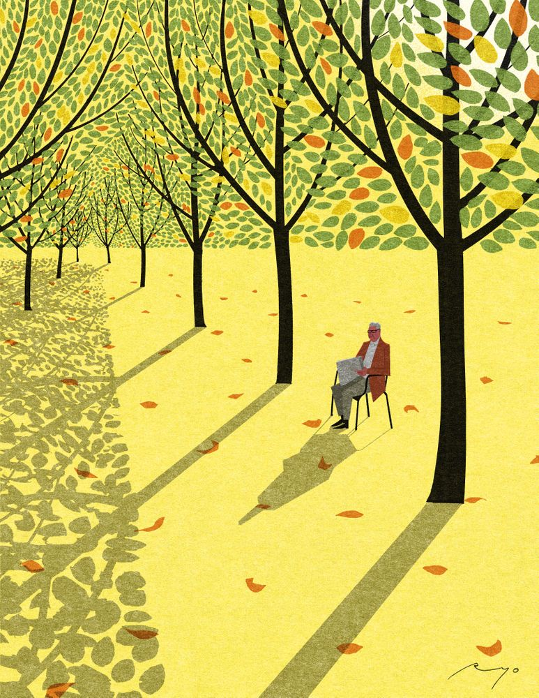 Autumn Afternoon Art Print By Ryo Takemasa X Small Illustrations And Posters Graphic Design Illustration Illustration