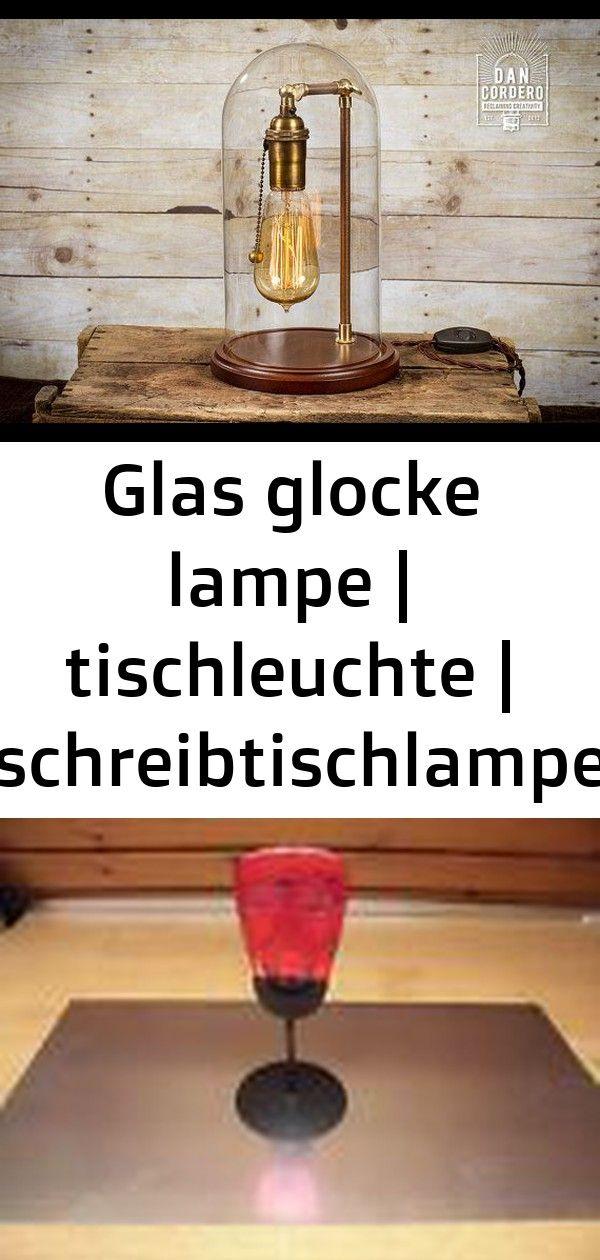 Glas glocke lampe | tischleuchte | schreibtischlampe | glaskuppel | glocke | nachttischlampe | mes 1 #afrikanischerstil