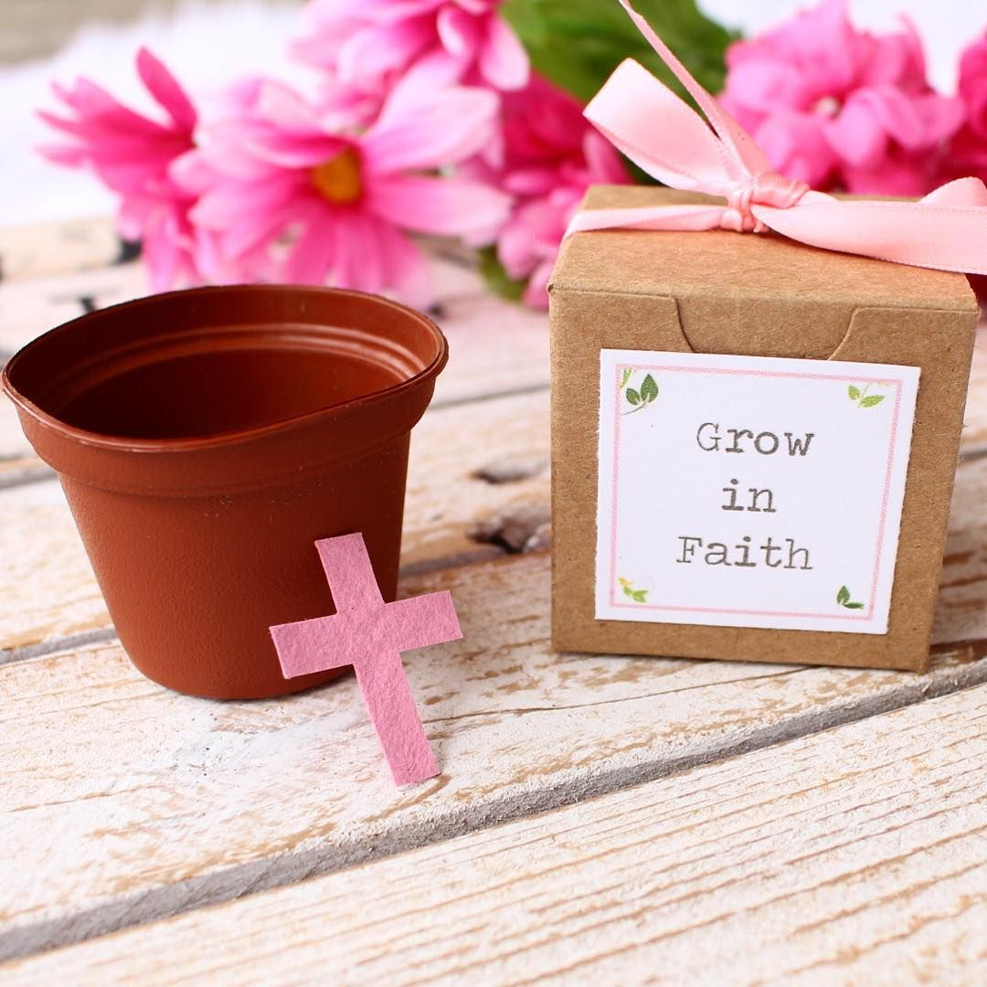 """We can't get over how cute these """"Grow in Faith"""" garden"""