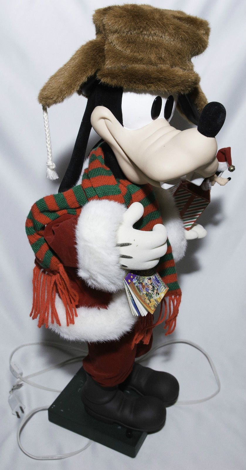 Disney Goofy Animated Christmas Figure It's a Small World