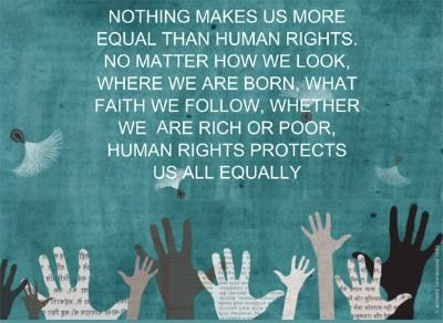 Nothing makes us more equal than human rights!