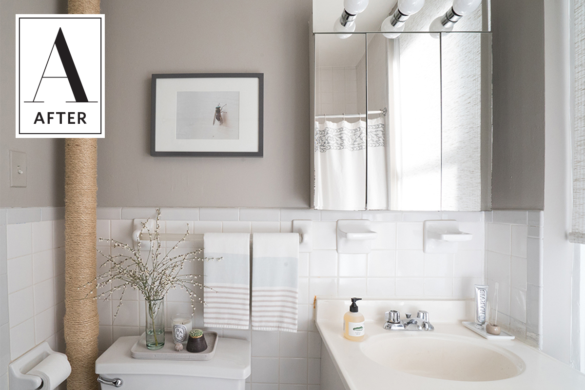 Keeping Colors Calm: A Beautifully Neutral Bathroom Makeover ...