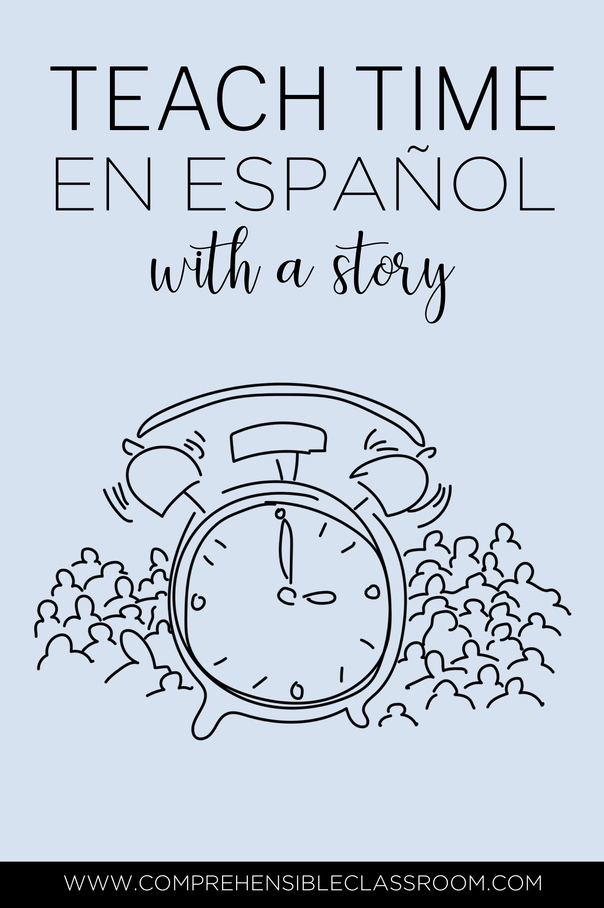 La Hora Telling Time In Spanish Notes And Reading