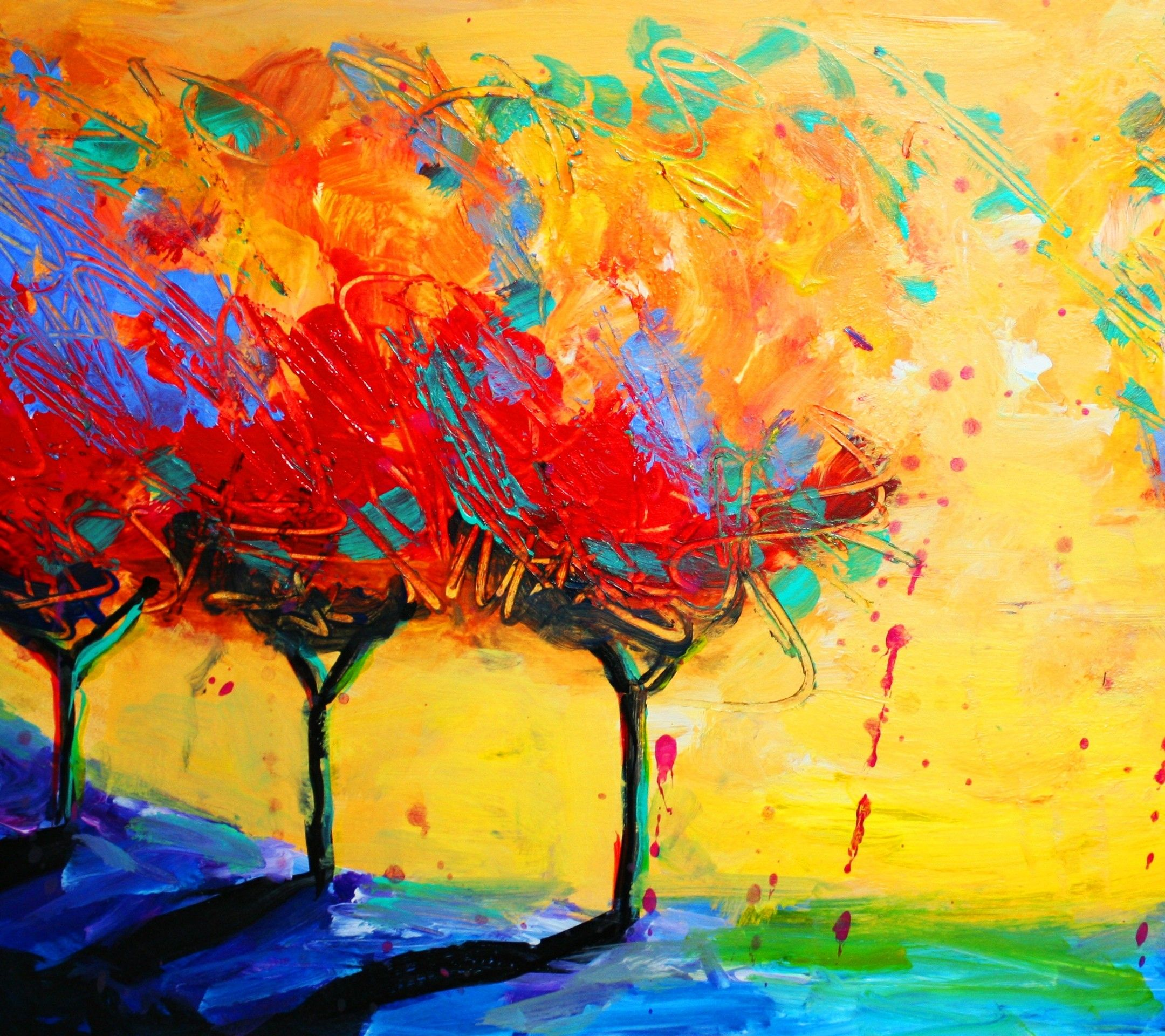 Abstract Paint Trees Tap To See More Amazing Abstract