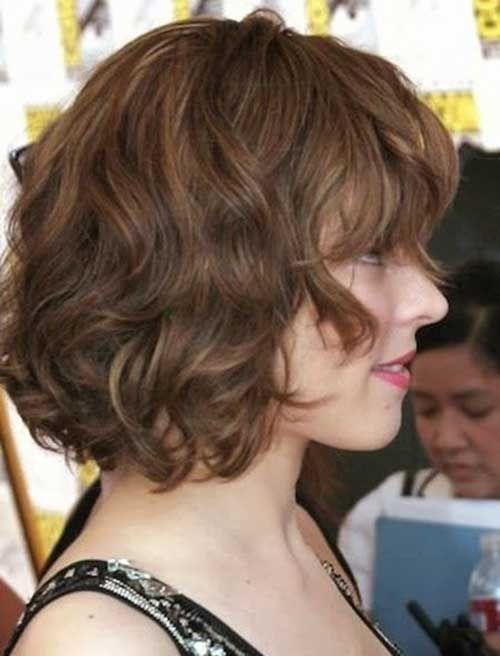 15 cortes de pelo corto para el grueso del pelo ondulado Pinterest