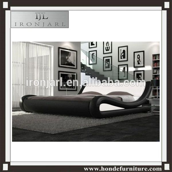 BEDROOM FURNITURE 4 DRAWERS LEATHER BED SLEIGH BED DOUBLE BED WITH ...