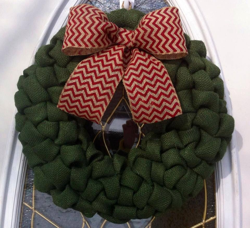 A personal favorite from my Etsy shop https://www.etsy.com/listing/208004549/burlap-christmas-wreath-for-front-door