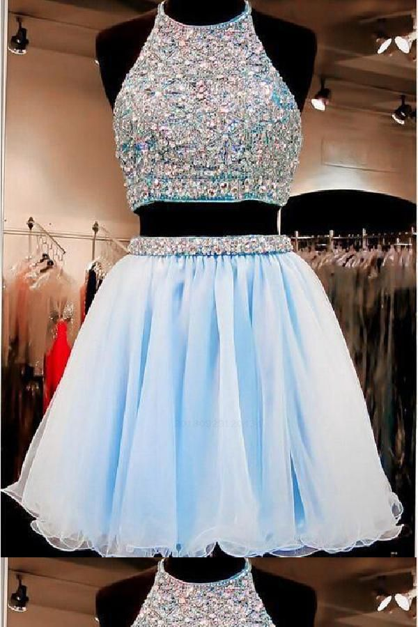 16+ Blue two piece homecoming dress ideas