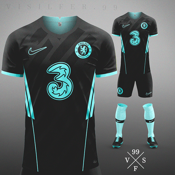 Football jersey concept 2020 - VISILFER.99 #2 on Behance in 2021 ...