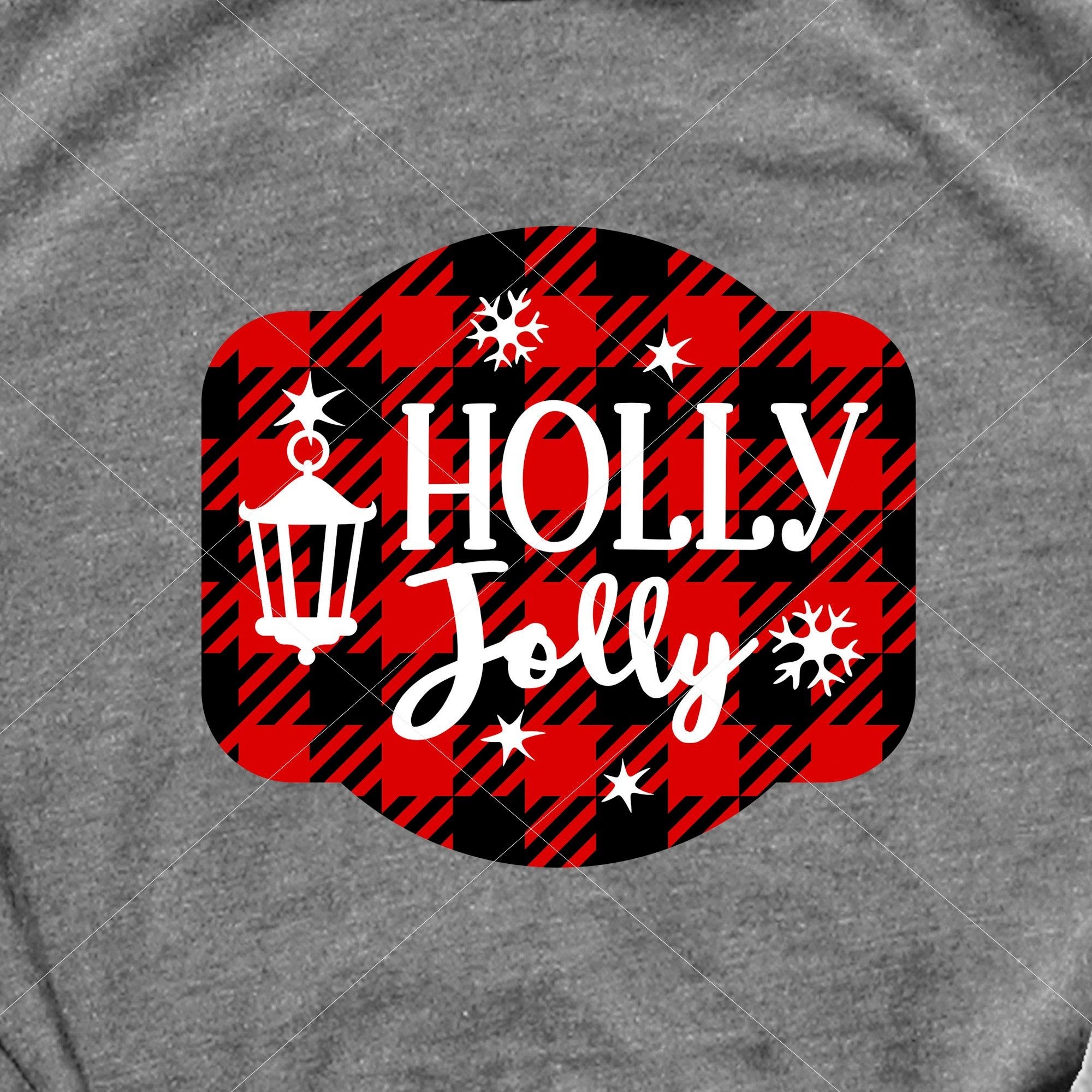 Holly Jolly svg sign Christmas decor svg file Home decor