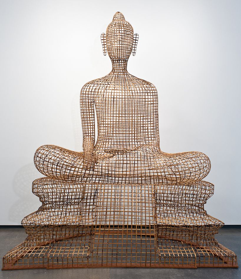 seated buddha\' by Sopheap Pich rattan, bamboo, wire, plywood 256 ...