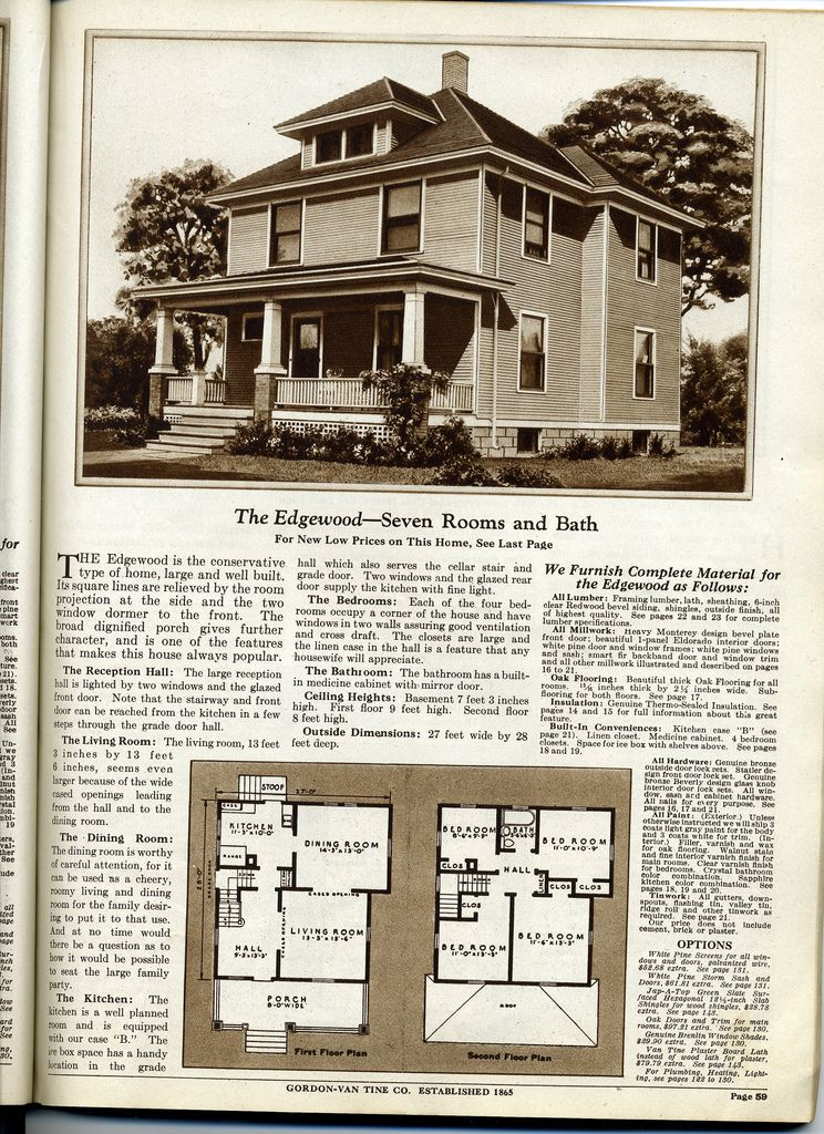 Four Squar House Design Of 1900s: Gordon Van Tine - With Bump Out