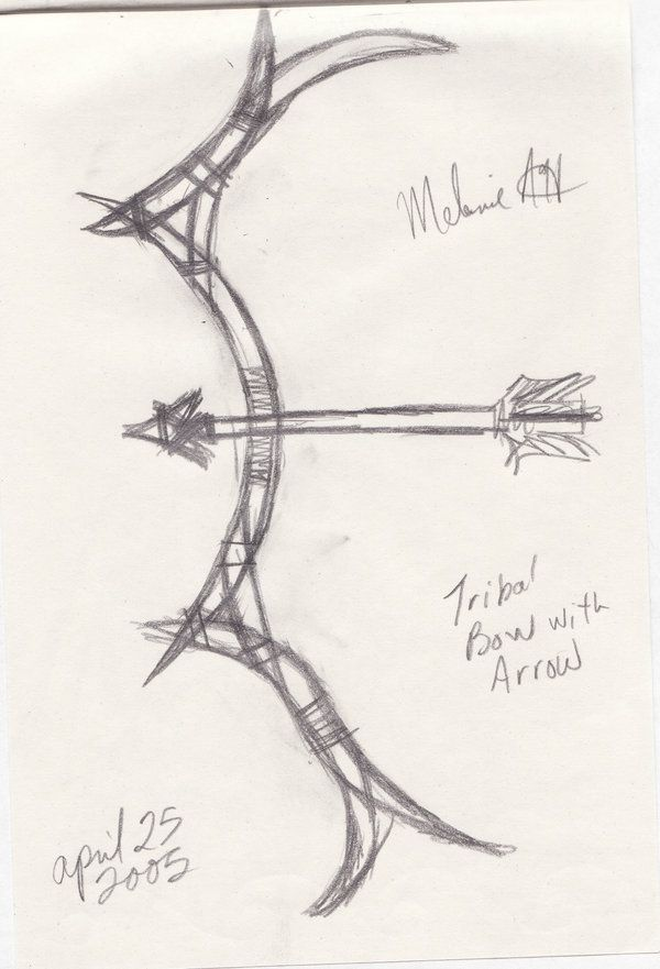 Tribal Bow And Arrow By Relicraider On Deviantart Forever Tattoo Tricep Tattoos Arrow Tattoo
