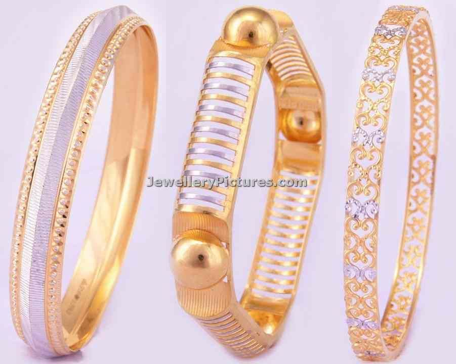 Beautiful gold bangle collection from bhima jewellers in unique ...