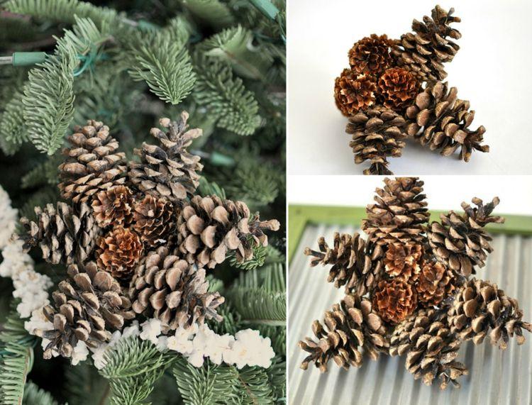Basteln Mit Tannenzapfen Advent basteln tannenzapfen advent anhänger ornament weihnachtsdeko