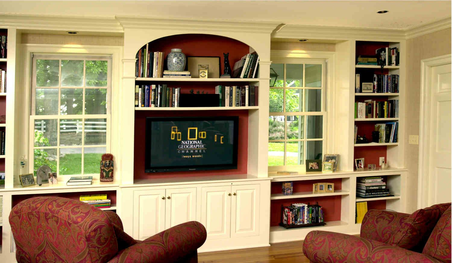 Built In Fireplace TV Stands Entertainment Centers - Kent Cabinetry ...
