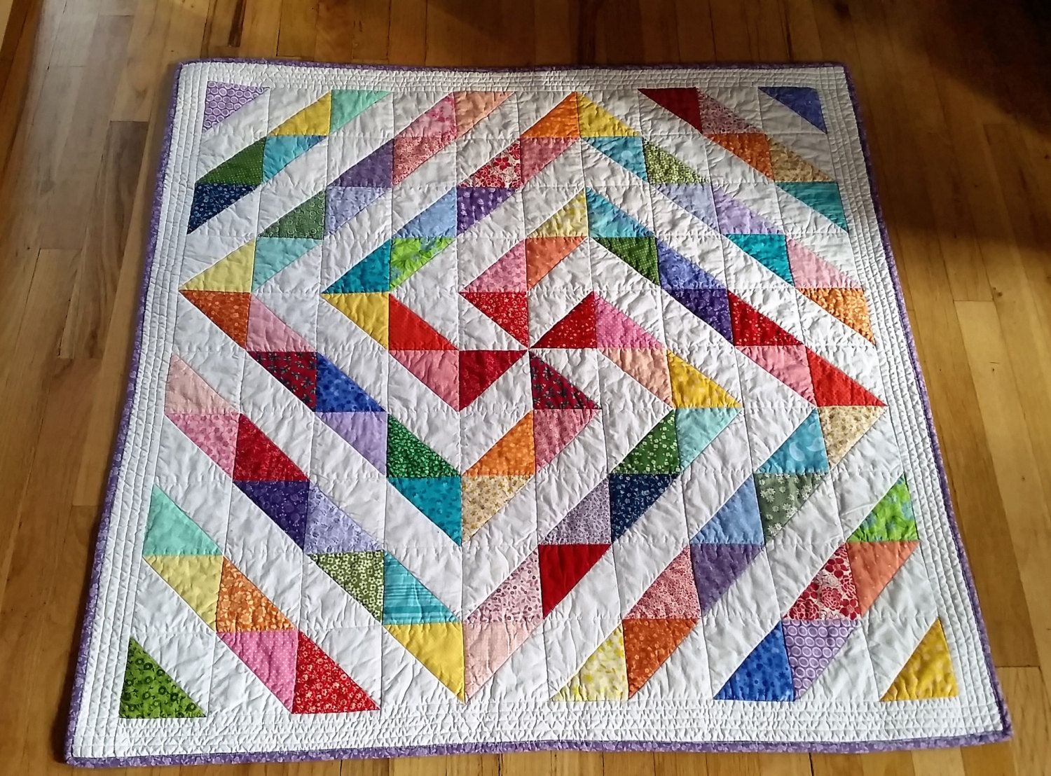 bd7cdb1d89cf7 Rainbow Baby Quilt/Colorful Baby Quilt/Pinwheel Swirl Baby Quilt ...