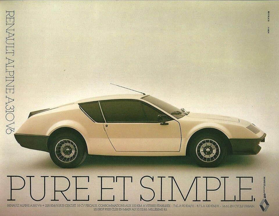 Pure Simple Renault Alpine A310v6 Renault Alpine Renault Alpine