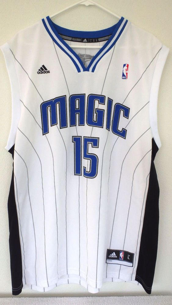 detailed look 95aa2 9bb78 Vince Carter Adidas Orlando Magic #15 Men's Jersey Vintage ...
