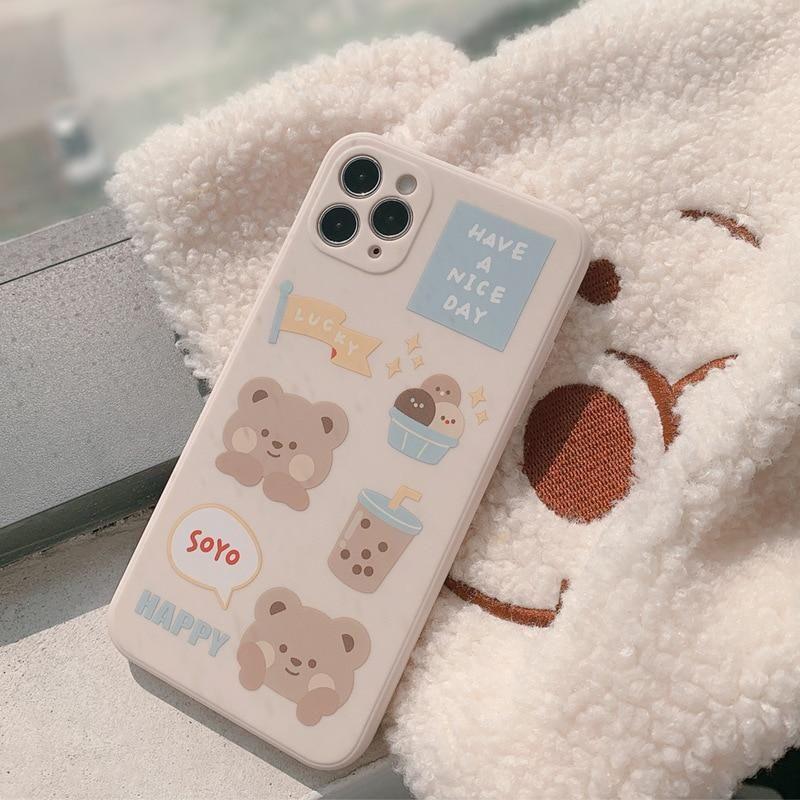 Sweet Bubble tea Milk tea bear Phone Case   RK1433