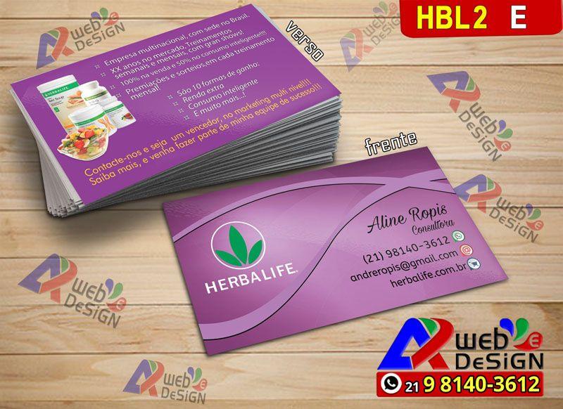 Cartao De Visita Herbalife Hbl2e Imprimir Cartao De Visita