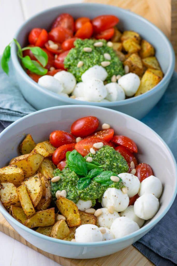 Photo of Die Pesto Potatoe Bowl ist so fix zubereitet, dass es doppelt gut schmeckt