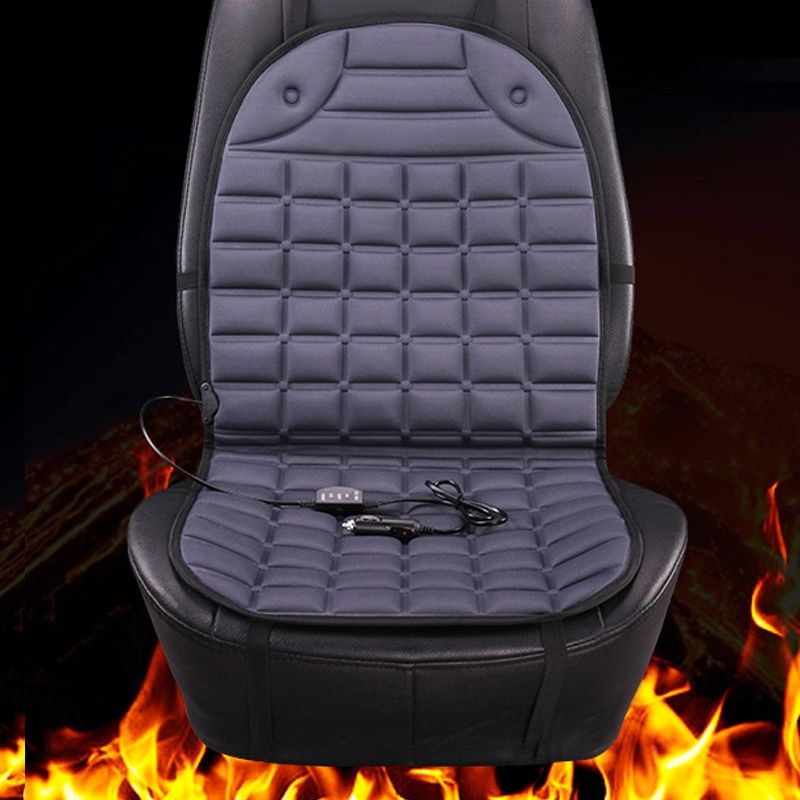12v grey electric heated Car seat covers, universal winter
