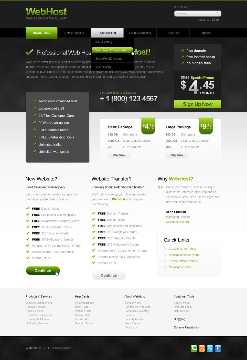 Hosting PSD Template 56599 Psd templates, Templates