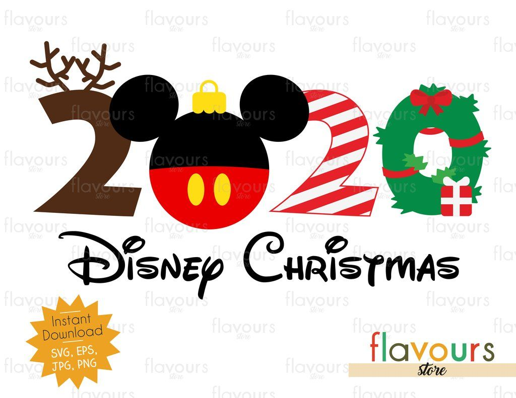 2020 Disney Christmas Mickey Christmas Ball Cuttable Design Files Instant Download Disney Christmas Mickey Christmas Disney World Christmas