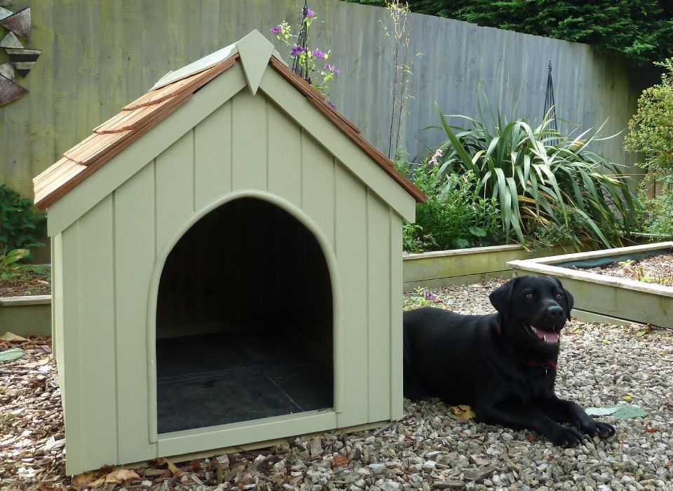 traditional dog kennel from the handmade garden storage company exeter
