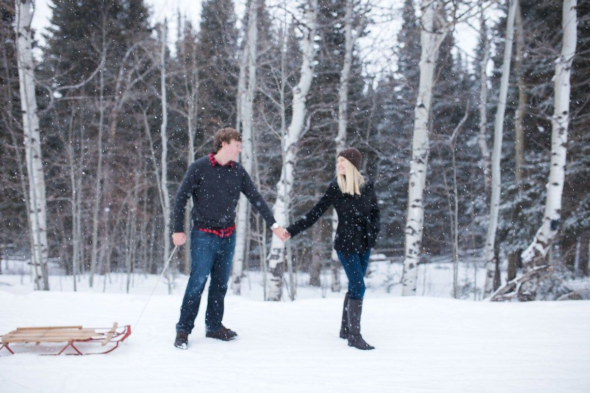 An amazing evening engagement photography session in