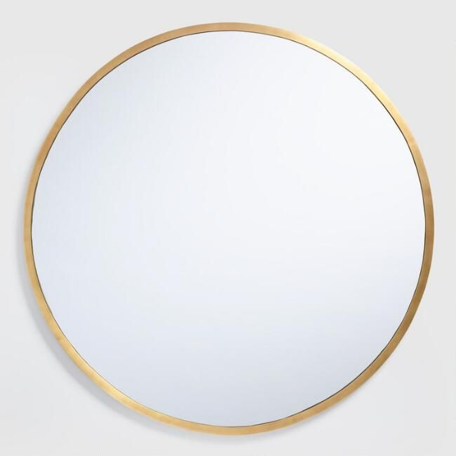 Our Generously Sized Round Wall Mirror With 3d Rim And Antique Brass Finish Effortlessly Elevates The Look Of Brass Mirror Round Brass Mirror Round Gold Mirror